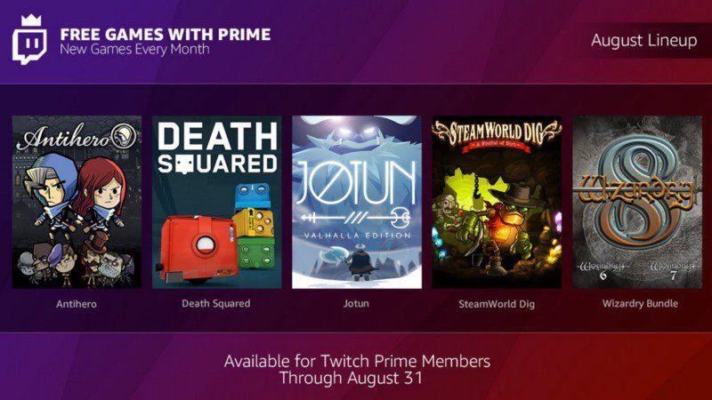 Giochi per utenti Twitch Prime agosto 2018: Antihero, Death Squared, Jotun, SteamWorld Dig, Wizardry